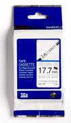 HSe-241 - bužírka bílá/černý tisk (18 mm)