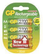 Nabíjecí baterie GP NiMH 2700 HR6 (AA), 4 ks