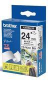 TZe-FX251 - bílá/černý tisk, flexibilní, 24 mm