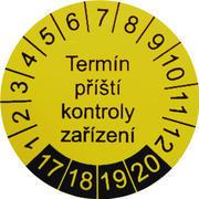 IP9080 - štítky pro označování příští kontroly (30 ks)