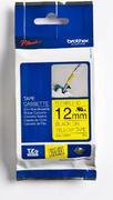 TZe-FX631 - žlutá/černý tisk, flexibilní, 12 mm
