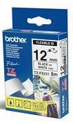 TZe-FX231 - bílá/černý tisk, flexibilní, 12 mm