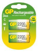 Nabíjecí baterie GP NiMH 2200 mAh C (HR14) 2 ks