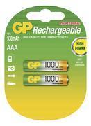 Nabíjecí baterie GP NiMH 1000 HR03 (AAA), 2 ks