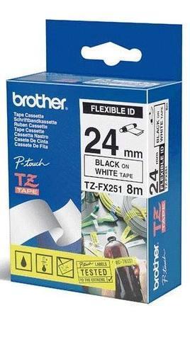 TZe-FX251 - bílá/černý tisk, flexibilní, 24 mm - 1