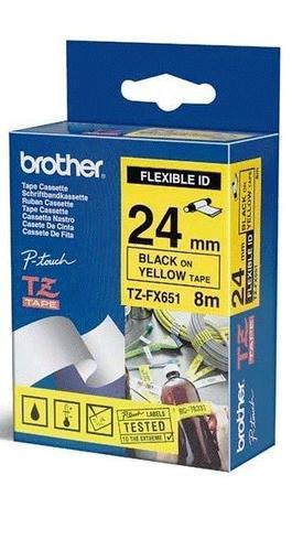 TZe-FX651 - žlutá/černý tisk, flexibilní, 24 mm - 1