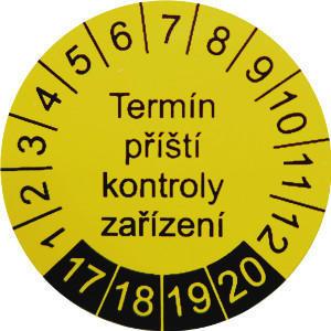 IP9080 - štítky pro označování příští kontroly (30 ks) - 1