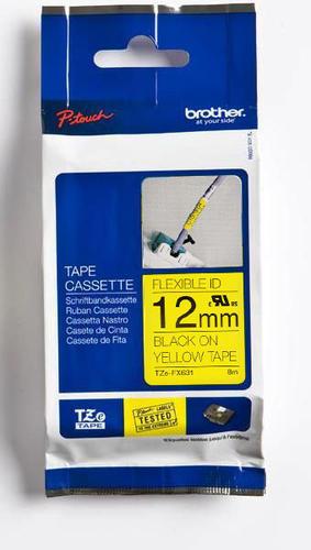 TZe-FX631 - žlutá/černý tisk, flexibilní, 12 mm - 1