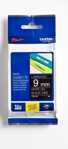 TZe-325 - černá/bílý tisk, 9 mm - 1