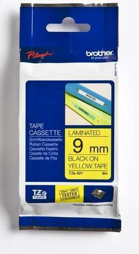 TZe-621 - žlutá/černý tisk, 9 mm - 1