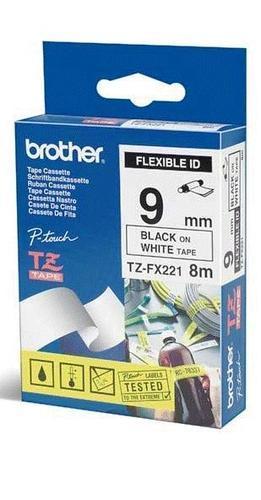 TZe-FX221 - bílá/černý tisk, flexibilní, 9 mm - 1