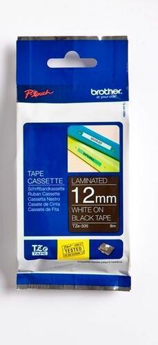 TZe-335 - černá/bílý tisk, 12 mm - 1