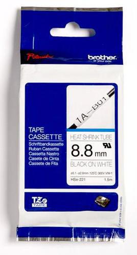 HSe-221 - bužírka bílá/černý tisk (9 mm) - 1