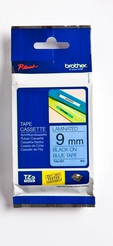 TZe-521 - modrá/černý tisk, 9 mm - 1