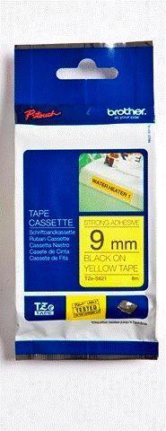 TZe-S621 - žlutá/černý tisk, extrémně adhezivní, 9 mm - 1