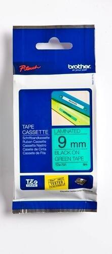 TZe-721 - zelená/černý tisk, 9 mm - 1