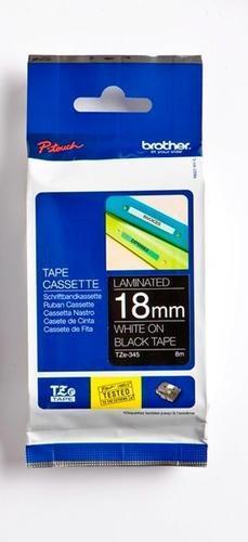 TZe-345 - černá/bílý tisk, 18 mm - 1
