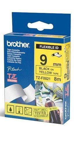 TZe-FX621 - žlutá/černý tisk, flexibilní, 9 mm - 1