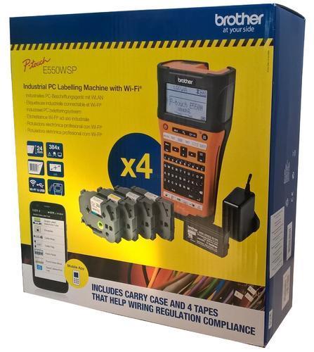 BROTHER PT-E550WSP - speciální balení (kufr+zdroj+AKU+4 pásky TZe) - 1