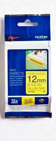 TZe-S631 - žlutá/černý tisk, extrémně adhezivní, 12 mm - 1