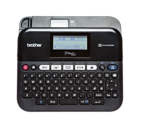 BROTHER PT-D450VP - tiskárna čár. kódů, textů a el. značek na laminovanou samolepící pásku - 1
