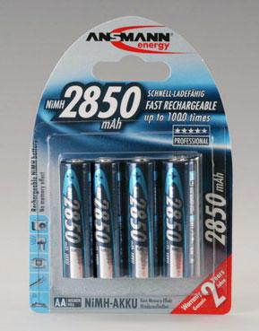ANSMANN - nabíjecí baterie NiMH 2850 R6 (AA), 4 ks