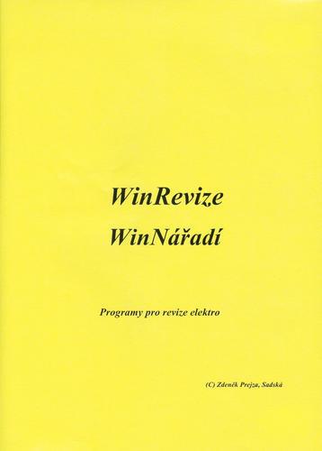 WinREVIZE - program pro revize el. instalací, hromosvodů a spotřebičů