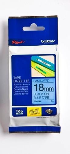 TZe-541 - modrá/černý tisk, 18 mm - 1