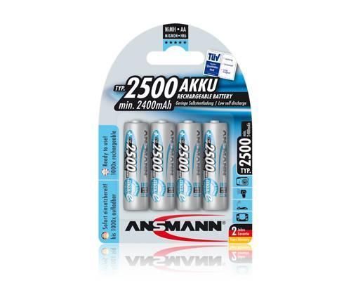 ANSMANN - nabíjecí baterie NiMH 2500 R6 (AA), 4 ks