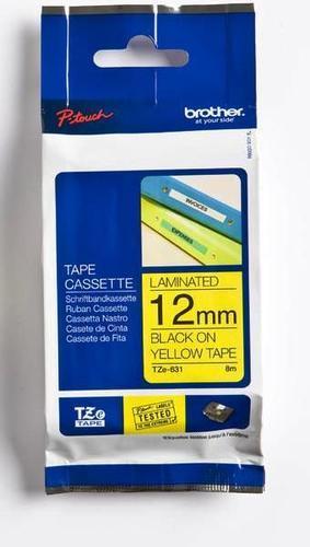 TZe-631 - žlutá/černý tisk, 12 mm - 1