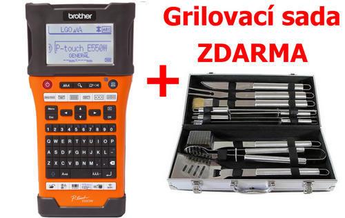 BROTHER PT-E550WVP - tiskárna čár. kódů, textů a el. značek + potisk bužírek+WiFi - 1