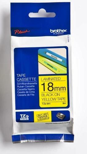 TZe-641 - žlutá/černý tisk, 18 mm - 1