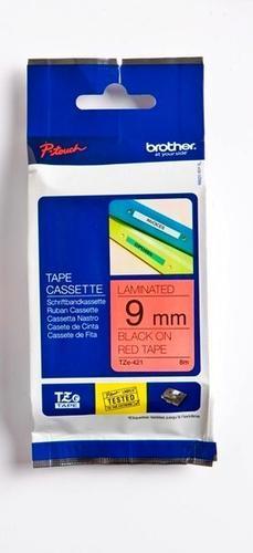 TZe-421 - červená/černý tisk, 9 mm - 1