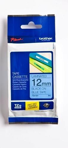 TZe-531 - modrá/černý tisk, 12 mm - 1