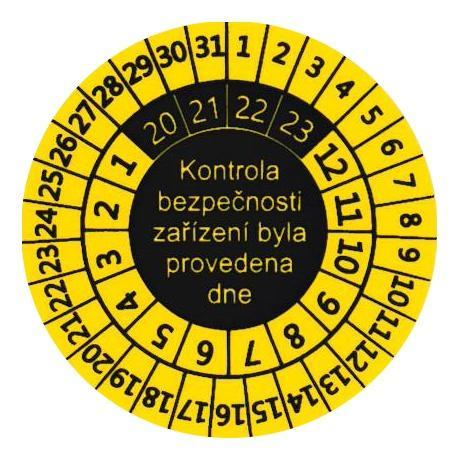 IP9081 - štítky pro označování kontrol svářeček (10 ks) - 1
