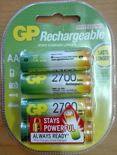 Nabíjecí baterie GP NiMH 2700 HR6 (AA), 4 ks - 2