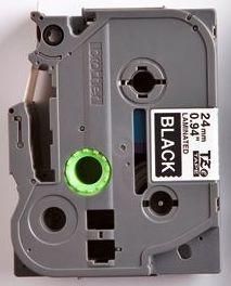 TZe-355 - černá/bílý tisk, 24 mm - 2