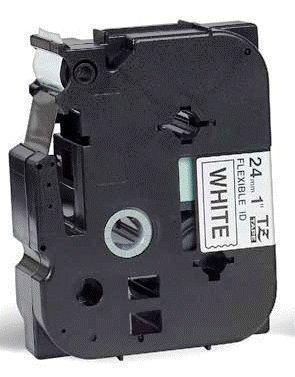 TZe-FX251 - bílá/černý tisk, flexibilní, 24 mm - 2