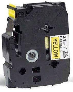 TZe-FX651 - žlutá/černý tisk, flexibilní, 24 mm - 2