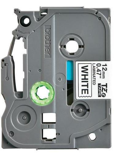 TZe-N231 - nelamin. páska 12 mm bílá/černý tisk, do tiskárny PT - 2
