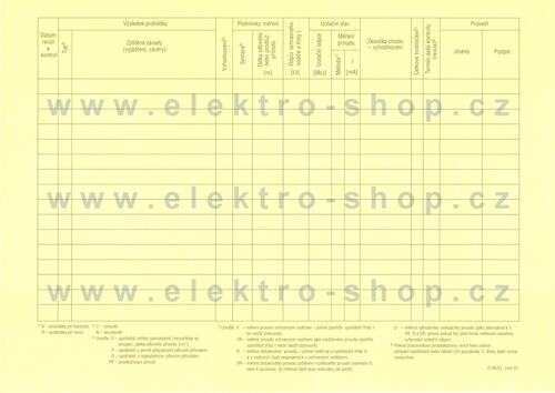Protokol o revizích el. spotřebičů a nářadí - 2