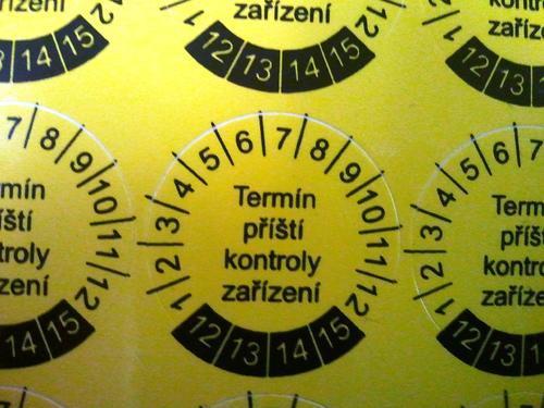 IP9080 - štítky pro označování příští kontroly (30 ks) - 2