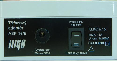 IP8011 - třífázový adaptér - 16A/5 pro přístroje REVEX - 2