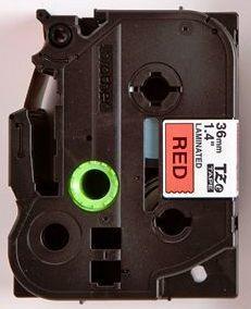 TZe-461 - červená/černý tisk, 36 mm - 2