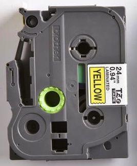 TZe-651 - žlutá/černý tisk, 24 mm - 2