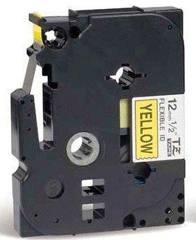 TZe-FX631 - žlutá/černý tisk, flexibilní, 12 mm - 2