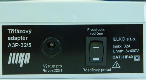 IP8013 - třífázový adaptér - 32A/5 pro REVEXplus a REVEXprofi (II) - 2