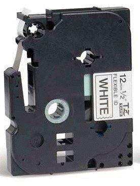 TZe-FX231 - bílá/černý tisk, flexibilní, 12 mm - 2