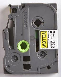 TZe-621 - žlutá/černý tisk, 9 mm - 2