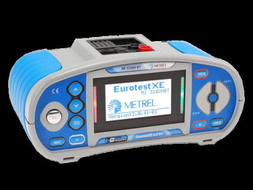 METREL Eurotest XE 2,5 kV BT (MI3102H BT) - revize instalací a hromosvodů + bluetooth - 2